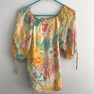 Yumi Kim Gold Becca off the shoulder Blouse xs
